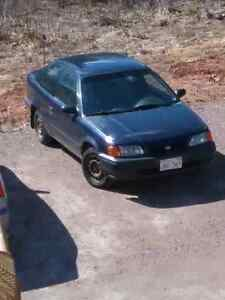 1997 Toyota Tercel, 2 door, manual 5 speed, **1200$**