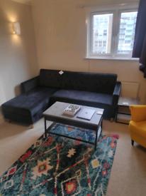 Brand new crushed velvet corner sofa with storage