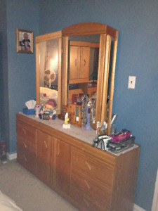 Oak Dresser with Mirror