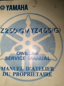 1980 YZ250G/YZ465G Owners Service Manual