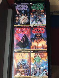 Collection des livres Star Wars EPIC (anglais)