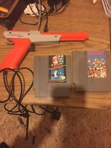 Nintendo games and gun and dsi charger