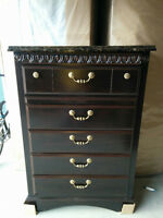 New Contemporary 5 Drawer Chest w/ granite Style table top