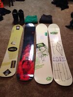 SNOWBOARDS + GEAR FOR SALE!!