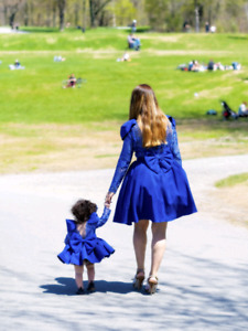 Set  dress mom and daughter for birthday