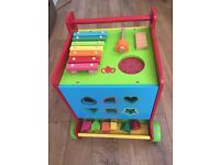 Wooden baby walker / activity cube