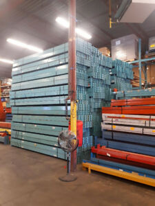 LARGE SUPPLY OF USED REDI RACK PALLET RACKING BEAMS 13' LONG