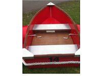 Fixed paddle aluminium boat