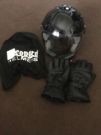 Helmet size large with free Motorbike gloves