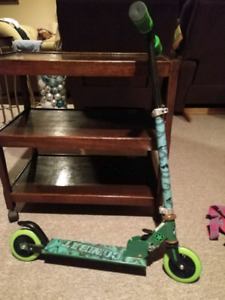 Green scooter, used condition