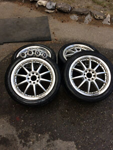 Ford Racing wheels with Lexani LX tires, 17x7, 4x108 pattern