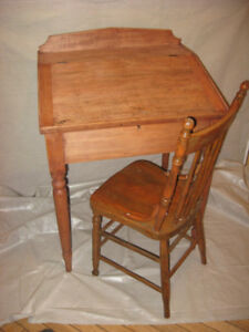 Antique Writer's desk and chair