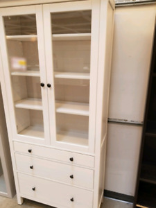 Ikea Hemnes glass door 3 drawer cabinet