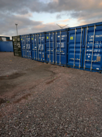 Self storage unit workshop shipping container