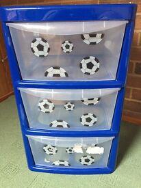 Childrens football storage drawers