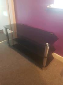 Glass tv unit 3 shelves