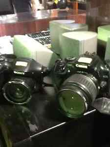 Cameras, Sony $100, Canon $250 & other cameras for sale