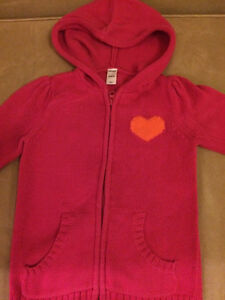 Girls' Sweater Hoodies (size 5T)