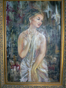 Beautiful Large Portrait Oil on Canvas North Shore Greater Vancouver Area image 4