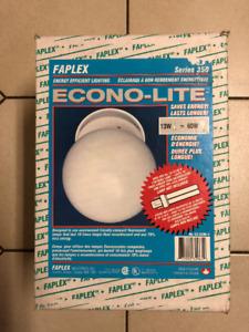 Glass globe/pendant ceiling light (white) - NEW IN BOX - $15