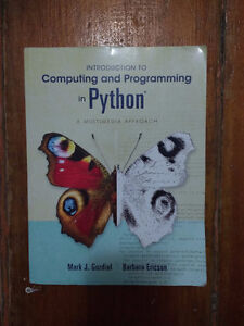Textbook: Introduction to Computing and Programming in Python