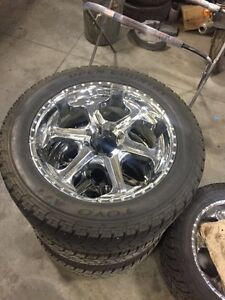 "8 BOLT 24"" CORE RACING RIMS & LT 325/50/24 TOYO A/T TIRES"