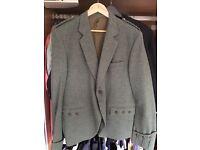 Tweed pure wool kilt jacket
