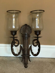 Ornamental wall sconces.