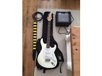 Cort electric guitar w/earthfire amp and case