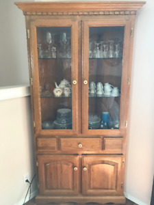 Oak China Cabinet, new price