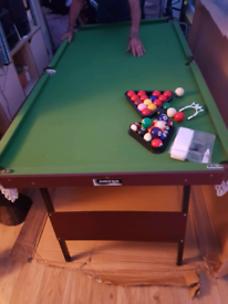 6ft snooker and pool table