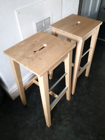 2 ikea NISOLLE bar stools 74cm