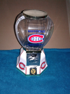 Montreal Canadiens Coin Operated Gumball Machine New