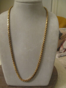 FABULOUS MIRIAM HASKELL VINTAGE RUSSIAN GOLDTONE MASC. CHAIN