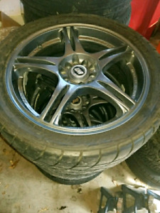 Rays 5x114.3 Rims on tires. Need sold taking up space