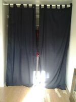 Set of Navy Blue Curtains