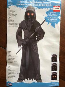 Phantom Costume with Light Up Eyes - Size 8-10