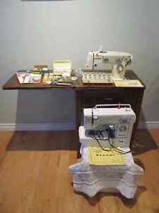 Sewing Machines with table and accessories