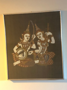 Two Indian Women Playing Music Painting