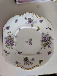 Hammersley Victorian Violets Cake Plate 1930's