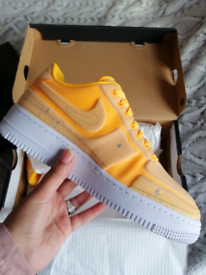 Rare Nike Air force 1 Laser orange Blueprint trainers. Size 5. New