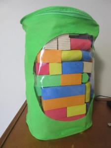 Foam blocks in carrying case