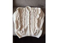 Aran cardigans and jumpers