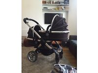 icandy peach blossom double buggy/pram or pram and buggy