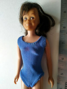 Vintage 1963 Barbie SKOOTER DOLL with NAVY Blue Helenca Swimsuit