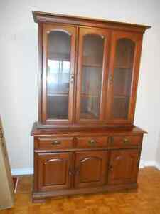 dining room, two piece cabinet, bottom could be used as a consol