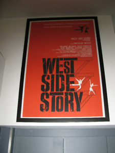MOVIE POSTER framed - WEST SIDE STORY new reprint