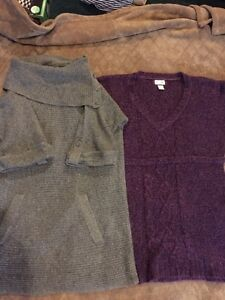 Two maternity sweaters size large