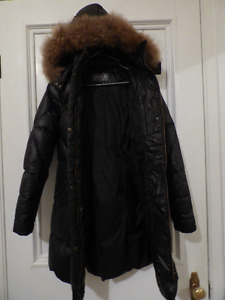 Down-Filled Women's Jacket w/ Real Fur - small