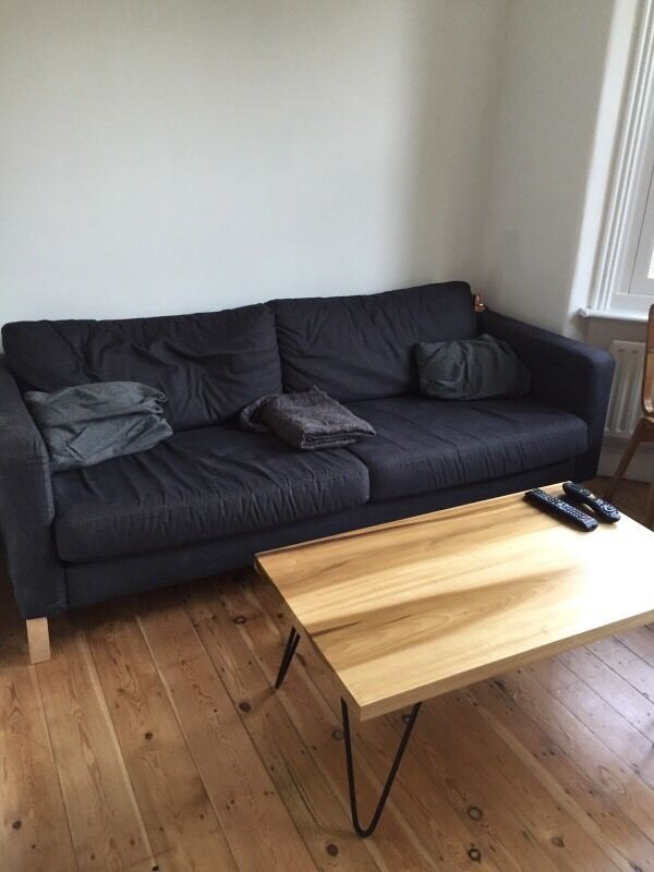 Ikea Karlstad Three Seater Sofa Grey 100 Obo In East London London Gumtree